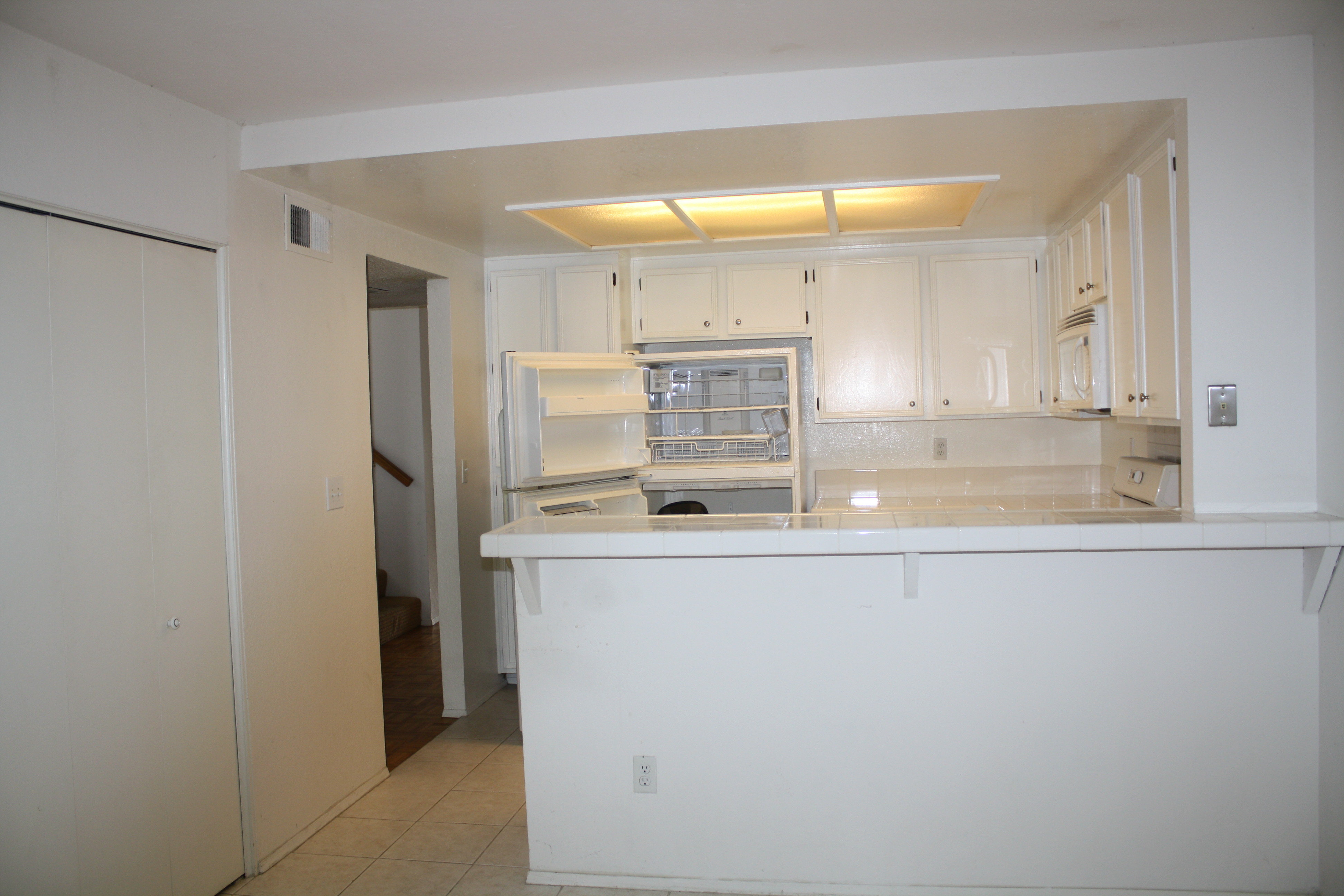 Intro to the remodel not from hell empty nest remodelers for Dropped ceiling kitchen ideas