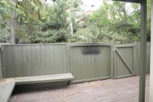 Backyard before remodel
