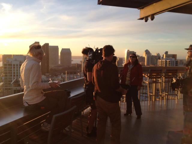 filming me on rooftop