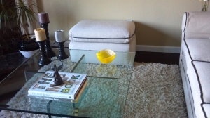 This little yellow bowl was a great find at Home Goods and adds just the right amount of yellow to the table