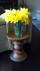Not a great photo but look at those daffodils!