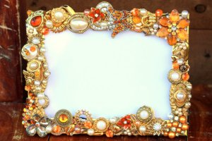jeweled photo frame from etsy
