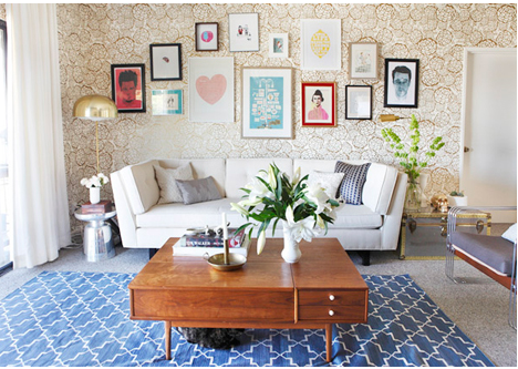 Mix and match gallery wall by Emily Henderson
