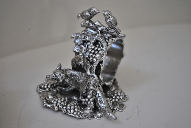 Pewter napkin ring from The Enchanted Home