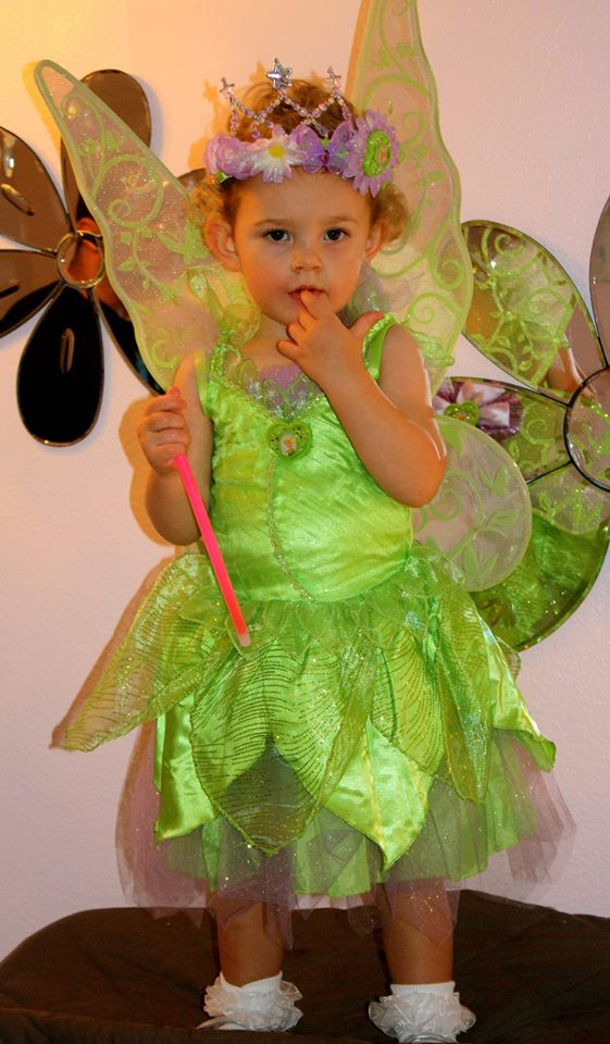 ella in tinkerbell costume 2013
