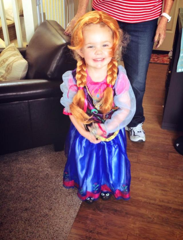 ella as princess anna