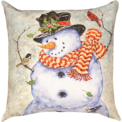 Baby it's cold outside pillow from outdoorpillowsonly.com