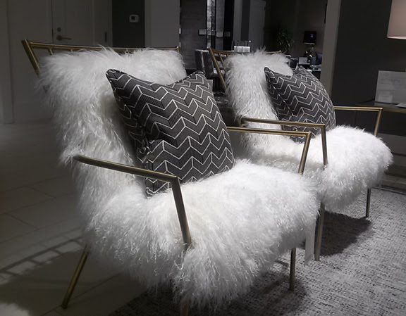 design fur covered chairs ansel chairs from mitchell gold via dc by design blog
