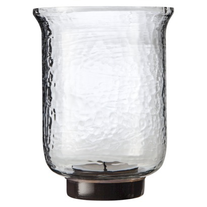 Wavy glass and a pretty fluted design on this hurricane from Target