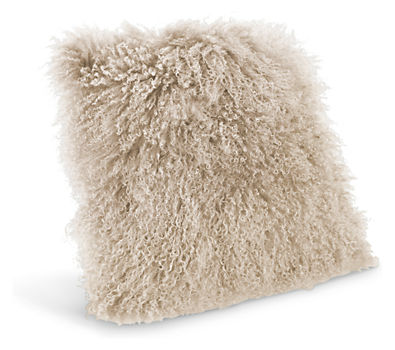 sheepskin pillow from room and board