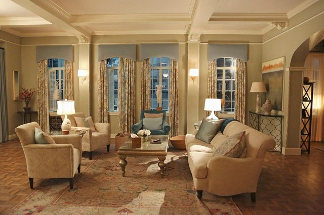 Scandal set--apartment of Olivia Pope photo Danny Feld/ABC via Architectural Digest