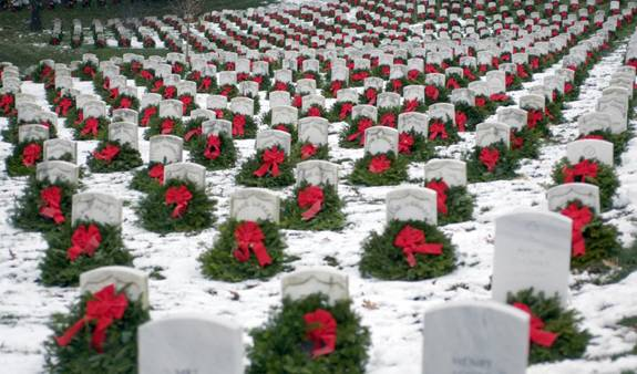 Arlington Cemetery at Christmastime