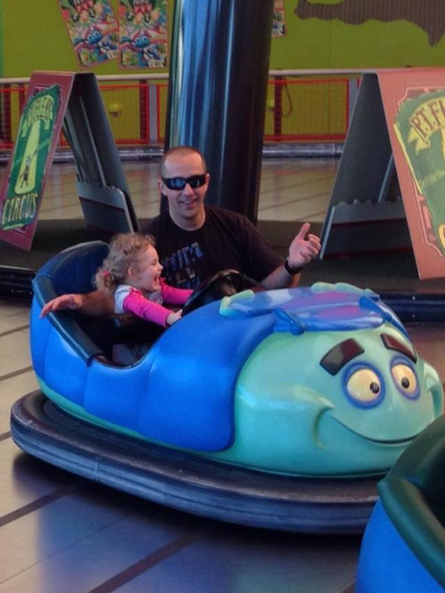 ella and jeff in car at disneyland jan 2015