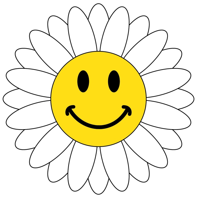 happy face daisy from clipartpandadotcom