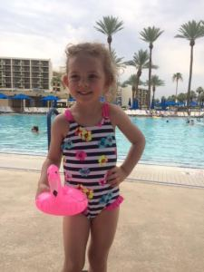 ella at pool in palm springs june 2015