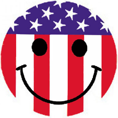 happy face american flag from floozeesdoozeesdotcom