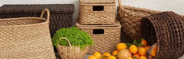 beautiful basket selection from Crate and Barrel