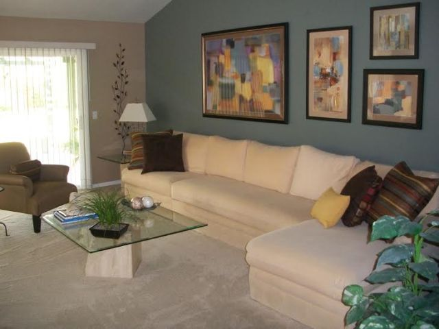 sharon ladd living room after with artwork