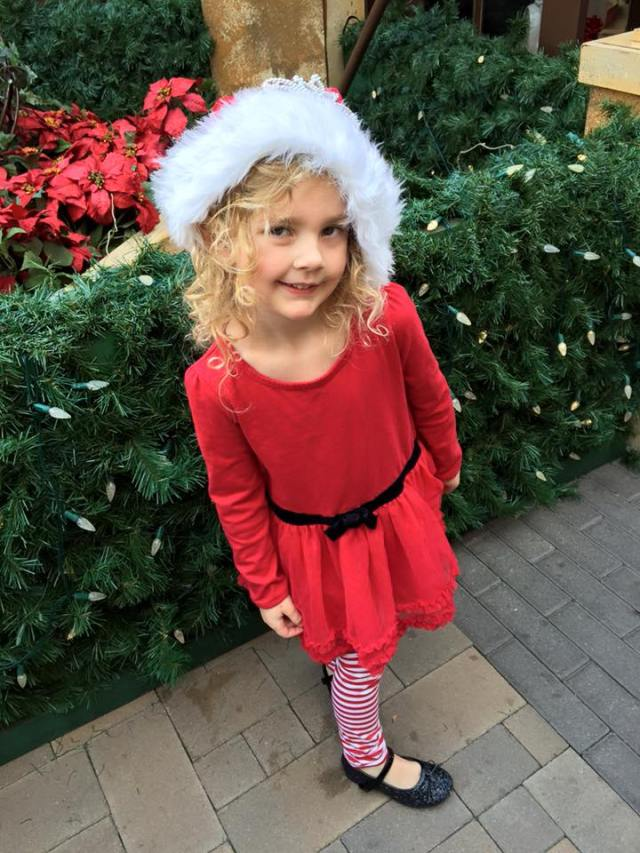 ella in santa hat dec 2015