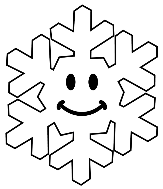 cute chunky smiley face snowflake