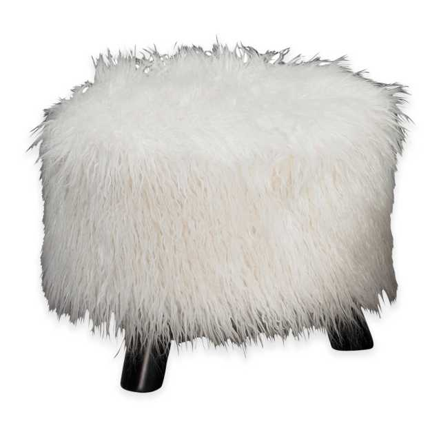 design fur stool from bed bath