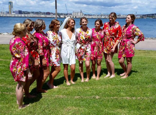 jens wedding pic of grils in robes