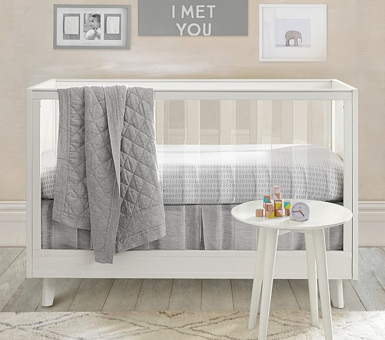 design acrylic crib from pottery barn