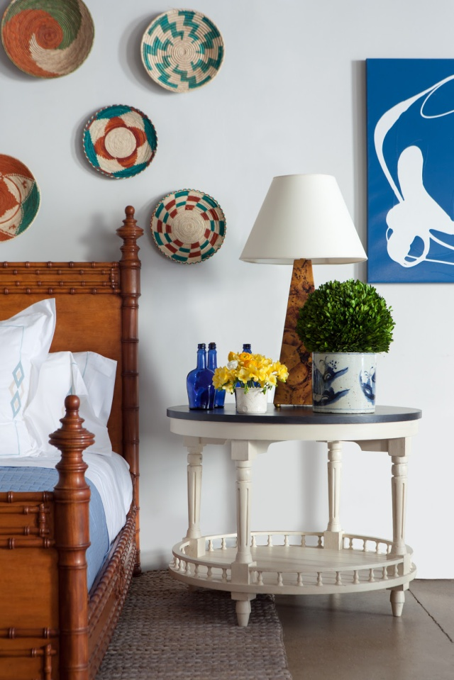 design baskets on wall from bunny williams home