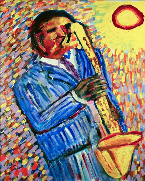 design art saxophone poster form artlivingdotcom
