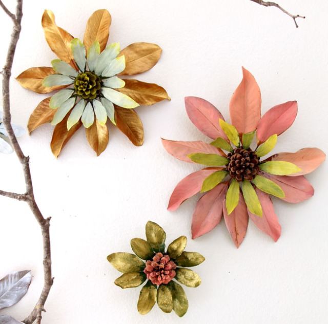 design fall flowers from leaves from thistlewood blog