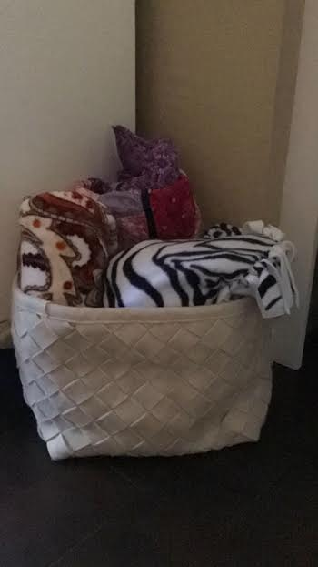 design throws in basket from our house