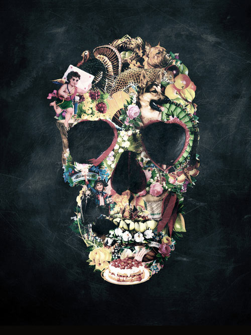 skulls-painting-from-ali-gulec-via-daily-milk-digest