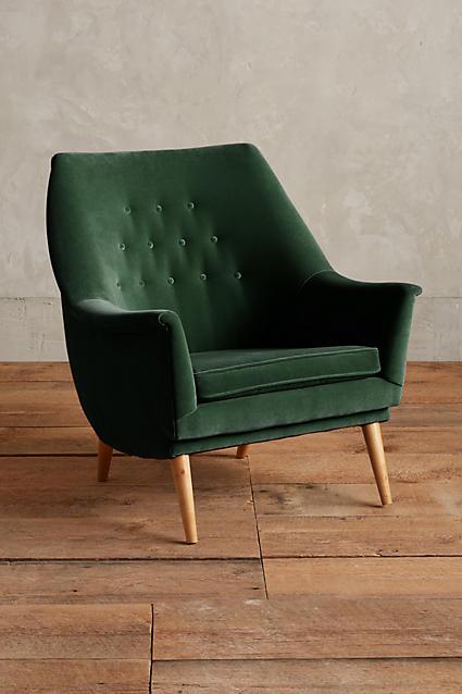 things-i-love-green-velvet-rivona-chair-from-anthropologie