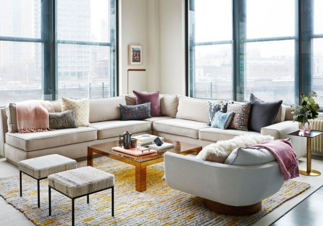 i-could-live-here-loft-condo-in-brooklyn-photo-by-stephen-kent-colbert-via-archi-digest-mag-fabrics-mix-of-metals-colored-acruylic-and-view