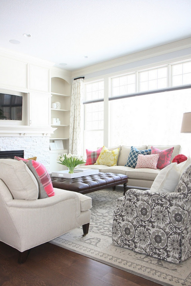 design mismatched pillows on sofa from bria hammel interiors photo gridley plus graves photography