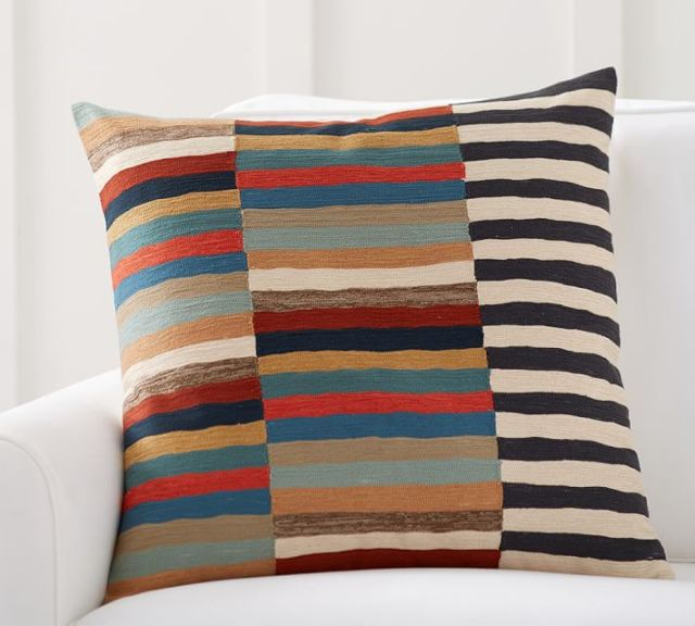 design stripe pillow from pottery barn