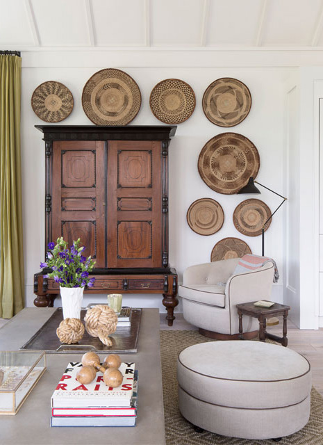 design baskets on wall from olivia obryan design