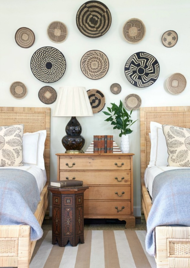 design baskets on wall from sarah bartholomeow via design chic blog