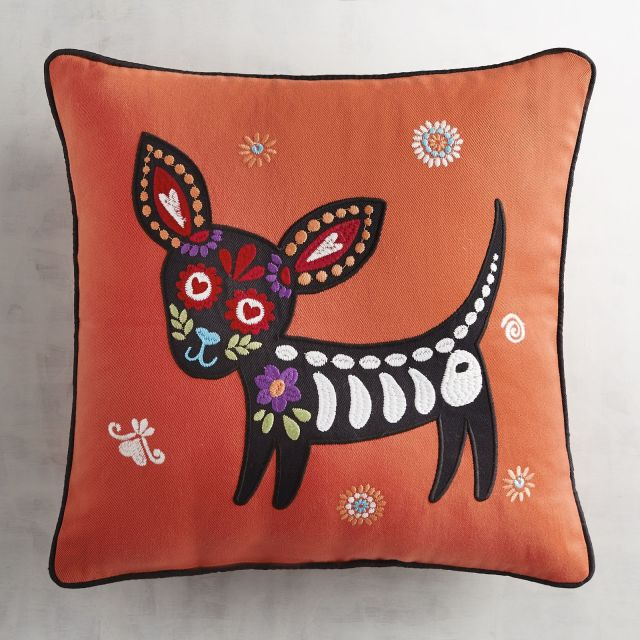 design pillow chihuahua from pier 1