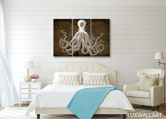 octupus art from etsy lux wall art shop