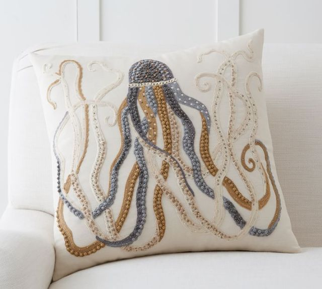 octupus pillow from pottery barn