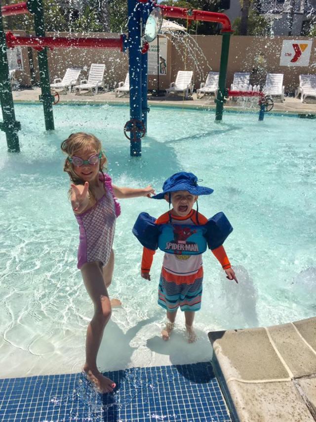 ella and brendan at the pool augu 2017