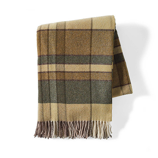 plaid throw from grandinroad