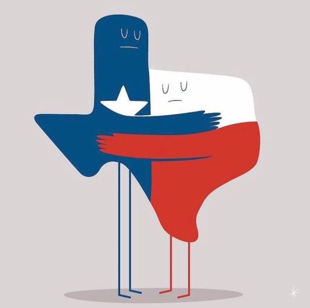 texas flag cartoon from wayne dupree show facebook page