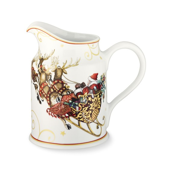 christmas pitcher from williams sonoma