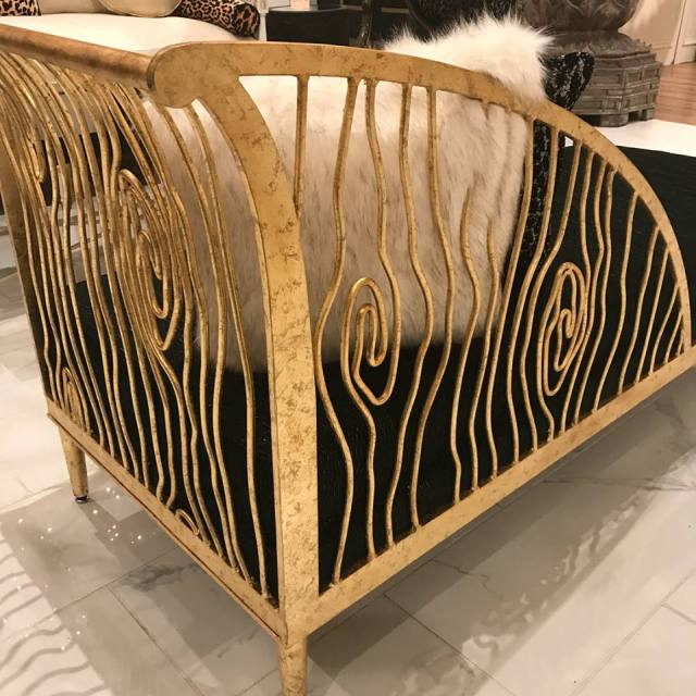 gold chair from currey and company