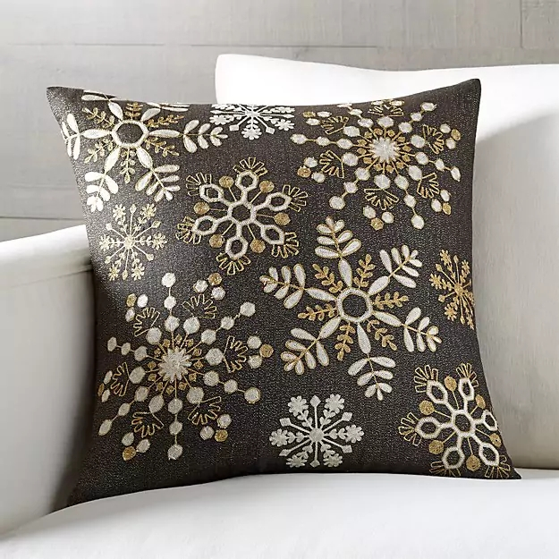 snowflake pillow from crate and barrel