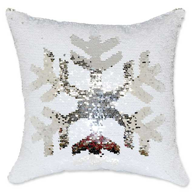 ugly xmas pillow from bed bath and beyond called mermaid sequin