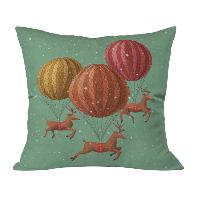ugly xmas pillow sage deer from target