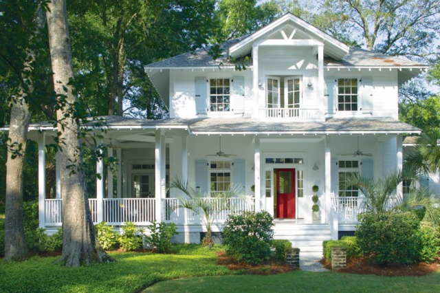 red front door by benjamin moore